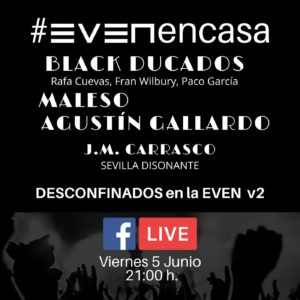 Black Ducados Maleso y Agustín Gallardo en Streaming desde la Sala Even | 5 de Junio, 21,00 horas